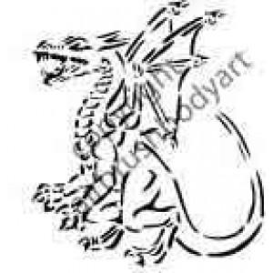 0270 dragon reusable stencil